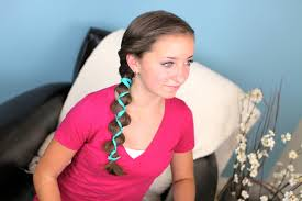 ribbon accented loony braid hairstyle ideas cute girls hairstyles
