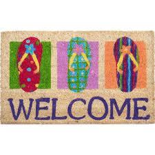 Flip Flop Rugs Flip Flops Welcome Coco Doormat