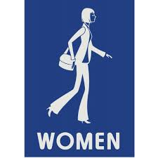 Mens And Womens Bathroom Signs Creative Restroom Signs With Figures Of Businesswoman