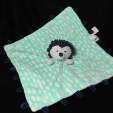 oh joy target mint green blue gray hedgehog baby security blanket