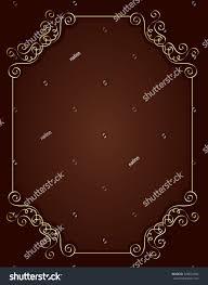 Wedding Invitation Empty Cards Elegant Gold Red Maroon Color Blank Stock Illustration 328832492