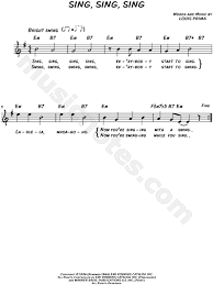 sing sing sing with a swing louis prima benny goodman sing sing sing sheet leadsheet in e