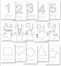 preschool daily learning notebook numbers shapes and letter