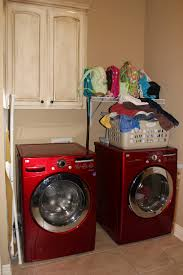 decorations laundry room with vintage white wood laundry cabinet