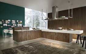 peinture cuisine bois design interieur peinture cuisine vert foncé lambris bois grandes