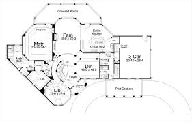 house plans with rear view colonial house plan with 5 bedrooms and 3 5 baths plan 6155