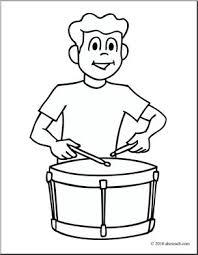 clip art boy playing drum coloring page i abcteach com abcteach