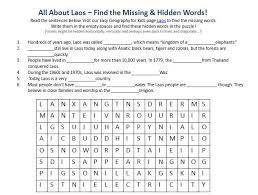 image of laos worksheet free printable earth science worksheets