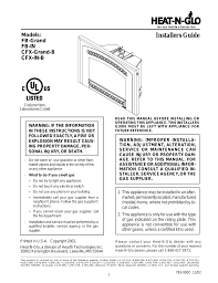 heat u0026 glo fireplace heat n glo fb in user manual 23 pages