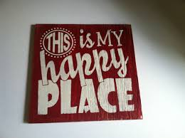 this is my happy place hand painted welcome sign home decor