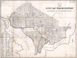 Old United States Map by Large Scale Old Map Of The City Of Washington Dc 1846