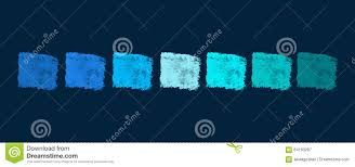 Green Color Palette by Blue To Green Color Palette Stock Illustration Image 64193287