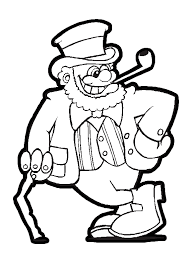 leprechaun holding a cane and smoking a pipe for saint patrick u0027s