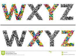 buchstaben design bunte buchstaben eingestellt für design lizenzfreie stockfotos