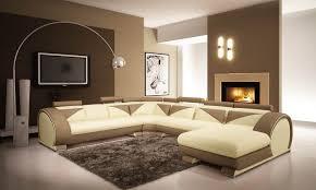 canapé d angle miami deco in canape d angle panoramique cuir beige et marron