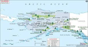 map of alaska cities alaska national parks map