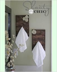 Bathroom Towel Hanging Ideas Diy Towel Rack Cosmecol