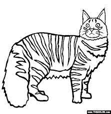 cats coloring pages 1