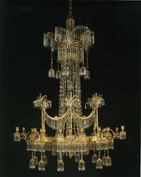 Crystal And Bronze Chandelier Baccarat A Rare Crystal And Gilt Bronze Waterfall Chandelier