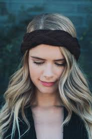 winter headbands braid front crochet headband