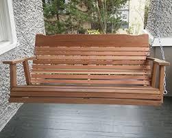 4 u2032 natural cedar porch swing amish crafted u2013 includes chain