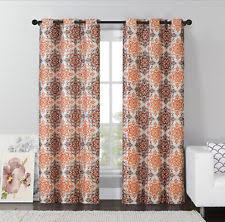 Coral And Gray Curtains Coral Curtains Ebay