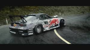 mazda rx7 drift mad mike drifting to dubstep mazda rx7 red bull alpha edit