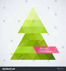 vector tree triangle lights background stock vector