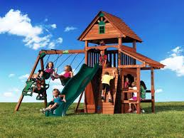 wooden backyard playsets u2014 emerson design best backyard playsets