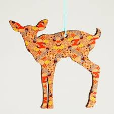 Giraffe Christmas Decorations by Animal Silhouette Christmas Ornaments Jewels At Home