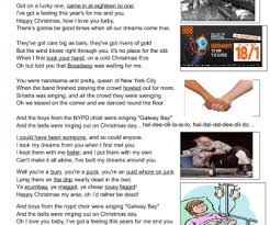 worksheet fairytale of new york by christy moore