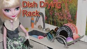 How To Make Doll Kitchen How To Make A Doll Dish Drying Rack Kitchen Miniature Crafts