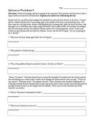 inferences worksheet 9 4th 8th grade worksheet lesson planet