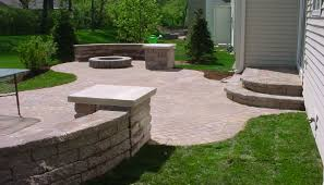 exterior fascinating cream natural stones mosaic tile patio paver