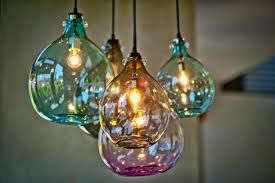 Glass Lights Pendants Blown Glass Pendant Lights Salevbags