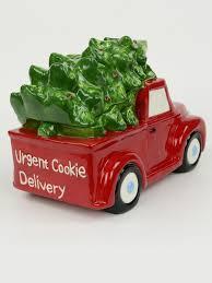 ceramic christmas tree in red ute u0027urgent cookie delivery u0027 cookie