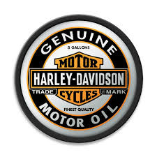 harley davidson genuine motor oil can mirror game room decor