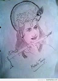 pencil sketch of shree krishna desipainters com