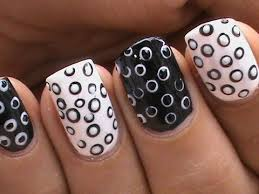 black and white nail art designs cute u0026 simple youtube