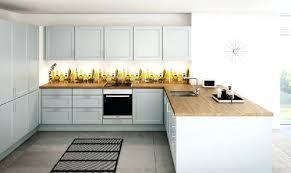 cuisine blanche plan de travail bois cuisine blanc laque plan travail bois de noir 33 lzzy co