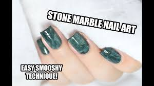 how to easy aventurine stone marble nail art smooshy stamping