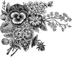 flower garden clipart black and white clipartsgram com