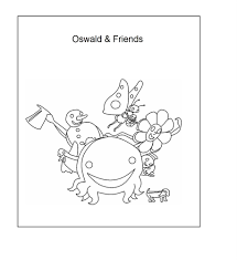 oswald the octopus coloring page