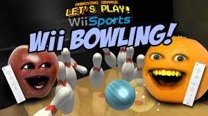 annoying orange wii bowling
