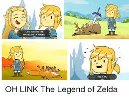 Link Meme - link you are the protector of hyrlle link yes i am oh link the