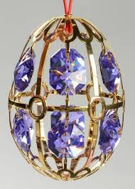 purple egg ornament in egg ornaments by faberge