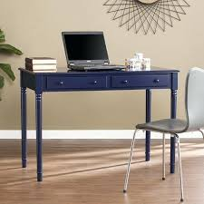 Blue Computer Desk Blue Writing Desk Noble Rustic Hickory Wood Distressed Interque Co