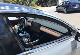 new photos of tesla model 3 interior dashboard center console and