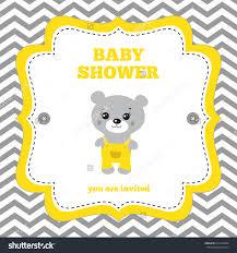 yellow and white baby shower invitations cloveranddot com