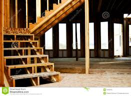 wood framed wood frame stairs home construction stock image image 1592943